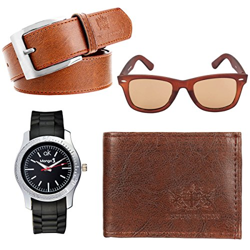 HOB EPICINK WITH DEVICE Hob Epic Ink With Device GiftSet In Wallet, Belt,Sunglass & Watch For Men