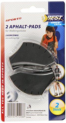 Für Frauen Walking-stöcke (Best Sport 2-er Nordic Walking Pad-Set, Schwarz)