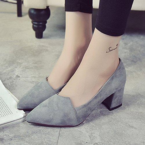 XY&GKChaussures femmes sandales à talons hauts d'été All-Match a souligné les chaussures Casual Chaussures Chaussures avec Cat en été,le meilleur service 35 grey