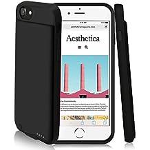 4000 mAh caso de batería para iPhone 8 plus/7 Plus/6 Plus, DING DING batería externa recargable cargador portátil protector Estuche de Carga para iPhone 8 plus/7 Plus/6 Plus (negro)