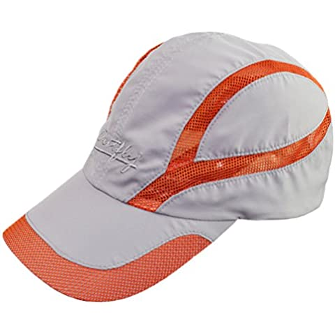 Decentron Unisex in tessuto ad asciugatura rapida, traspirante, per esterni, con cappello da sole