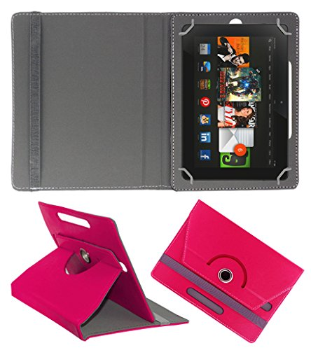 Acm Rotating 360° Leather Flip Case For Amazon kindle Fire Hdx 8.9 Tablet Stand Cover Holder Dark Pink  available at amazon for Rs.179