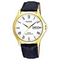 Pulsar PXF292X1 Men's Analogue Leather Strap Watch de Pulsar