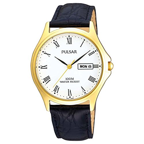 PULSAR GENTS GOLD PLATED STRAP WATCH