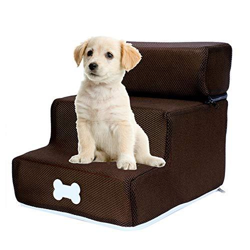Kapokilly Escalera Desmontable De Tres Pisos, Escalones para Mascotas Escalera para Perros Escalera Desmontable De Tres Pisos Escalera para Perros Desmontable Y Lavable.