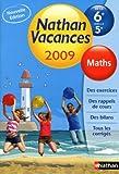 Maths de la 6e vers la 5e Nathan vacances