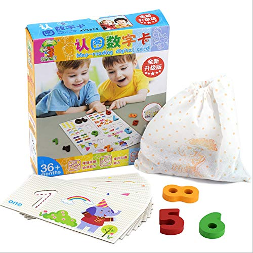 Hfudgj Kinder Puzzle-Set, Alphabet, Tier, ABC, 123, digitales Kartenspielzeuggeschenk geeignet für 1, 2, 3 Jahre alte Kinder, Säuglingsbaby-Mädchen