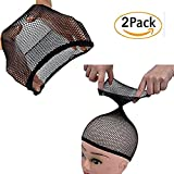 Kabello Elastic Net Mesh Hair Wig Weaving Fishnet Snood Cap (One Size)