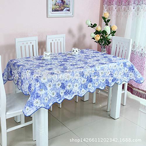 shiyueNB Kunststoff wasserdichte Tischdecke ölbeständig AntiHot Tee Tischdecke Haushalt PVC Drucktisch Tischdecke Meer blau Geheimnis 137 * 183cm Tischdecke (Tee-garten-geheimnisse)