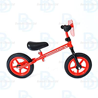 "MuddyPaws Balance Bike 12"" Frame - Red and Black - Unisex"