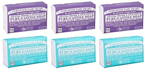 dr-bronners-magic-castile-bar-soaps-lavender-unscented-baby-mild-6x5-oz-by-dr-bronners