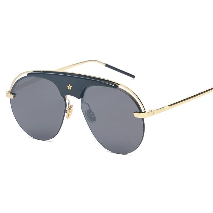 WKAIJC Männer Und Frauen Mode Freizeit Persönlichkeit Komfort Eleganz Kreativität Piloten Reflektierende Sonnenbrille,C