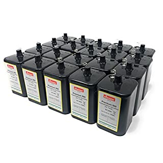 akku-net Battery Replacement Net 4R256V BLOCK BATTERY FOR Nits 6V Zinc Carbon Lantern Battery IEC 4R25Set of 20