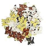 B Blesiya 50 Stück Katze Nähknopf Kinderknöpfe Handwerk Knöpfe für DIY Nähen Handwerk Kinder Kleidung