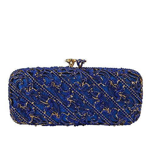 Handtasche Pack Blue Bankett Luxuxdiamanten Damen ZqAdpap