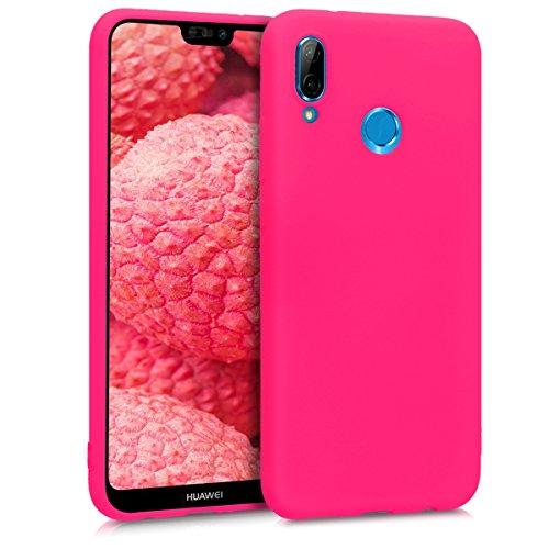 kwmobile Huawei P20 Lite Hülle - Handyhülle für Huawei P20 Lite - Handy Case in Neon Pink