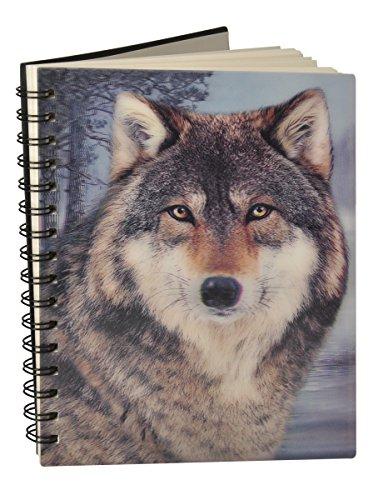3D Notebook Carnet Notizbuch 12,5x17cm 50 Blatt (Wolf)