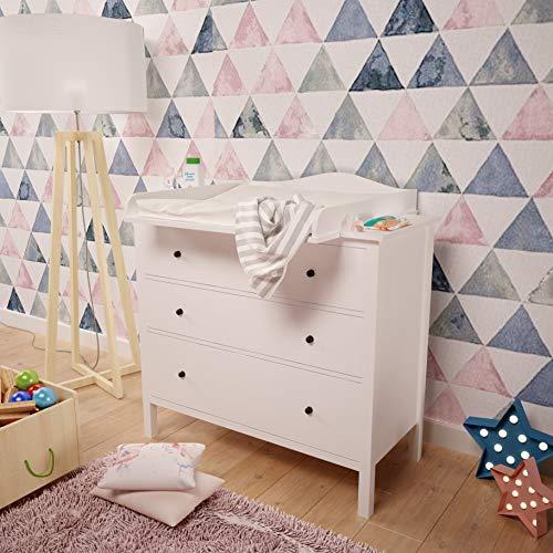 Wickelaufsatz Wickeltischaufsatz Welle für IKEA Malm Hemnes Nordli (hemnes)