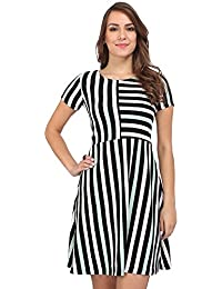 Bella Figura Couture Half- Sleeve Waffle Dress For Women