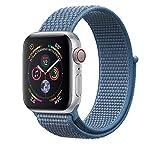 Corki für Apple Watch Armband 38mm 40mm, Weiches Nylon Ersatz Uhrenarmband für iWatch Apple Watch Series 4 (44mm), Series 3/ Series 2/ Series 1 (42mm), Cape Cod Blau