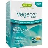 Vegepa E-EPA 70 - 60 gélules d'huile de poisson riche en Omégas 3, avec GLA