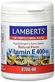 Lamberts Vitamina E, Natural 400UI - 60 Cápsulas