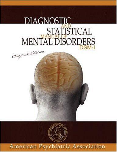 diagnostic-and-statistical-manual-of-mental-disorders-dsm-i-original-edition
