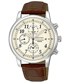 Seiko Men's Analogue Quartz Watch with Calfskin Strap SNDC31P1 (B004JY0KP8) | Amazon Products