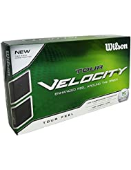 Wilson Staff, Bola de golf blanda, 2 capas, Hombre, Para mejor sensación de la bola y máxima distancia, Pack de 15, Baja compresión, Cobertura de ionómero, Tour Velocity Feel, Blanco, WGWR60300