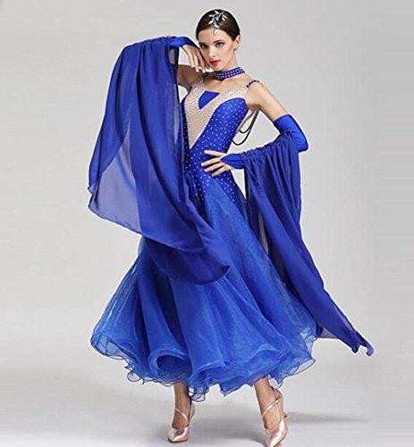 FGDJTYYJ Modern Dance Röcke GB Tanzkostüme Ballroom Dance Dress Walzer Tanzrock, l