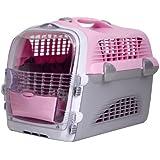 Catit 50782 Cabrio Transporbox für Katzen pink/grau