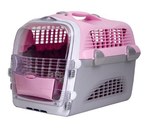 Catiti Pet Cargo Cabrio, Transportbox, rosa-grau