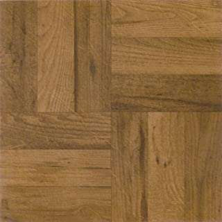Achim Home Furnishings FTVWD22520 Nexus 12-Inch Vinyl Tile, Wood 3 Finger Medium Oak Parquet, 20-Pack