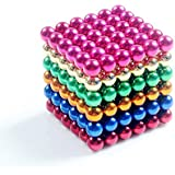 216-Pack 5mm Puzzle Cube Desk Toy, 3D Jigsaw Puzzle,Intelligence Develop and Stress Relief (Multicolor)