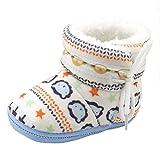 Babyschuhe Longra Baby Stiefel Schuhe weiche Sohle Stiefel Prewalker warme Lauflernschuhe Krippeschuhe (12CM, 1-12 Monate Baby)