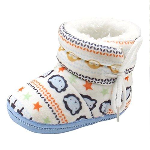 Babyschuhe Longra Baby Stiefel Schuhe weiche Sohle Stiefel Prewalker warme Lauflernschuhe Krippeschuhe (12CM, 1-12 Monate (Baby Schuhe Jungen)