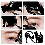 Tefamore 2STK Damen Cat Line Eyeliner Schablonen Former Model pro Eye Make-up-Tool