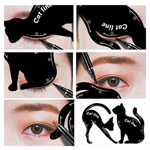 Tefamore 2STK Damen Cat Line Eyeliner Schablonen Former Model pro Eye Make-up-Tool (Pro Makeup Eye)