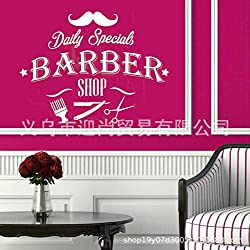 JXWR Barbe de Barbe créative Coupe de Cheveux Outil modèle Autocollant décoration Coiffeur Sticker Mural 57x74cm