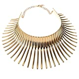 Jerollin Damen Kropfbänder Halskette Gold Collar Choker Collier Halsreif Necklace Statement Kette Vintage Elegant Anhänger Trachtenschmuck Modeschmuck