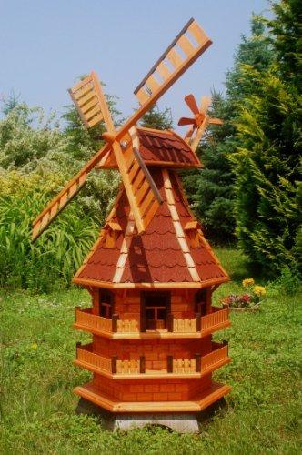 Windmühlen aus Holz, rot