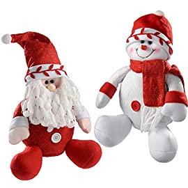 Giocattolo di Peluche di Natale Super Carino Divertente Bambola di Renne di Natale Ornamenti di Natale Cuscini di Peluche con Peluche Imbottiti Regali B