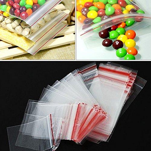 100Zip Lock Food Storage Taschen Candy Paket Beutel klar Poly Sack, der wiederverschließbaren Kunststoff klein Baggies