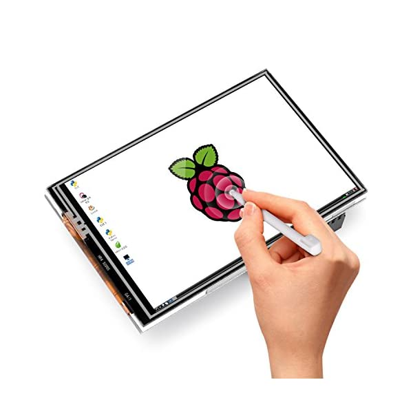 516qFvJxzOL. SS600  - Kuman 3.5 Inches Touch Screen Display Monitor 480x320 LCD Touch Screen Kit with 16GB TF Card for Raspberry Pi 3 Model B SC06+TF