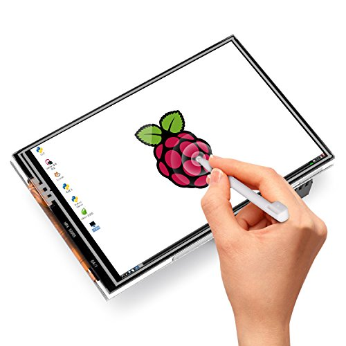 516qFvJxzOL - Kuman 3.5 Inches Touch Screen Display Monitor 480x320 LCD Touch Screen Kit with 16GB TF Card for Raspberry Pi 3 Model B SC06+TF