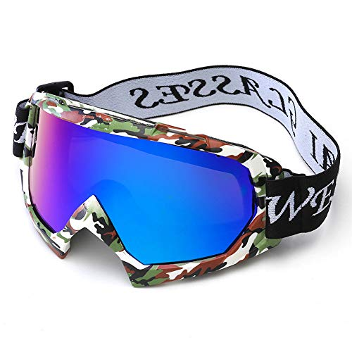 FXXUK Skibrille Skate Brille Winddichte staubdichte reflektierende Linse für Snowboard Motorrad Fahrrad Outdoor Jugend Männer Frauen,6