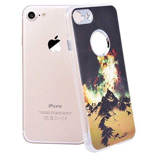 Cover iPhone 8,GrandEver iPhone 8 Custodia,3D Modello Design Morbido TPU Silicone Cover Slim Anti Scivolo Custodia Protezione Cover Case per iPhone 8 - Cucciolo Aurora