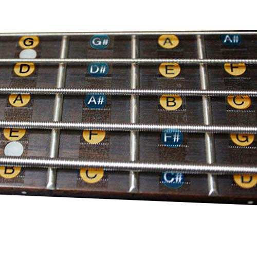 2PCS/PACK 4 String Guitar Bass Waagen Sticker Fretboard Fingerboard Note Label Fret Stickers für Gitarre Bass 30 * 7.5cm Freeship