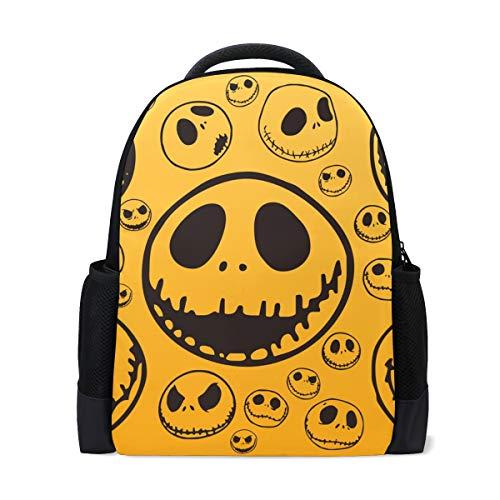 Schulrucksack Bookbag Daypack Funny Jack Skellington Wasserdicht für Middle School Travel Girls Boys
