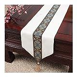 JUNYZZQ Tischfahne Chinesische Einfache Tischfahne Moderne Europäische Amerikanische Pastorale Tischdecke Couchtisch Tischset Bettfahne Betttuch, 30